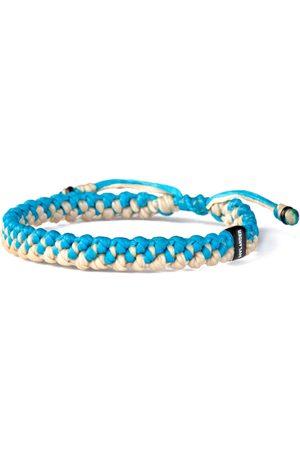 Men Bracelets - Men's Artisanal Blue Ecru & Twined Nautical Rope & Stainless Steel Bracelet - Hylander Harbour UK Bracelets