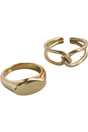 Women Rings - Women's Gold Stainless Steel Knott Ring Set Reyah Lewis