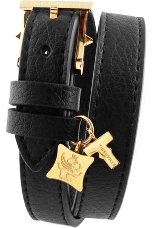 Men Bracelets - Artisanal Gold Leather Illusionist & Wrap Bracelet - Men Tissuville