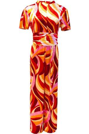 Women Jumpsuits - Women's Artisanal Yellow/Orange Lydia Jumpsuit Set Julia Clancey