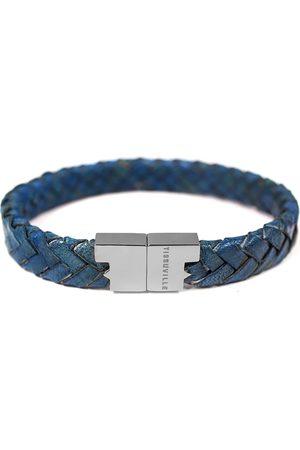 Tissuville Royal Leather Bracelet - Serac Silver