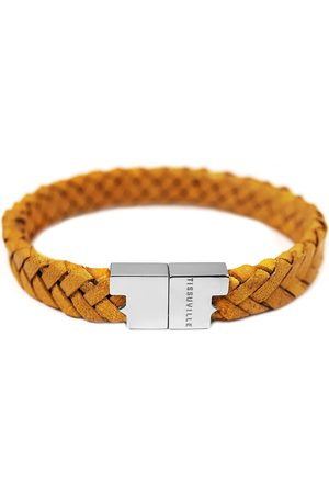 Tissuville Men Bracelets - Mustard Leather Bracelet - Serac Silver