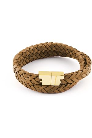 Tissuville Men Bracelets - Rugged Leather Double Wrap Bracelet - Stark Gold