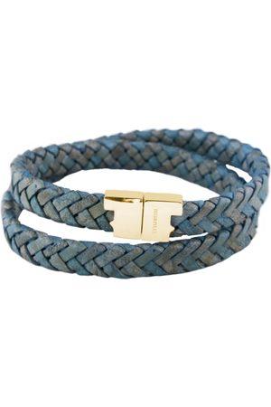 Tissuville Jargon Jade Leather Double Wrap Bracelet - Stark Gold