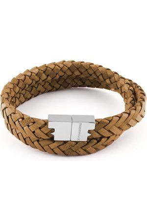 Tissuville Men Bracelets - Rugged Leather Double Wrap Bracelet - Stark Silver