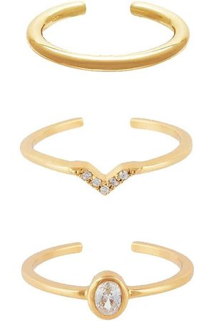 Women Rings - Women's Recycled Gold Ring Stacker Set Penny Pairs