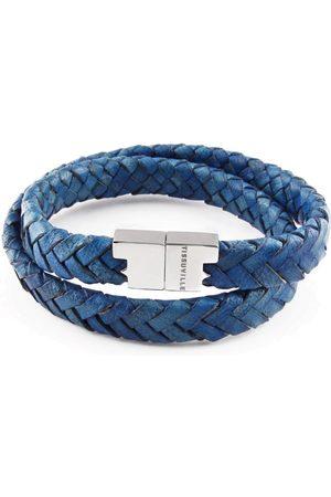Tissuville Royal Leather Double Wrap Bracelet - Stark Silver