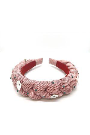Women's Artisanal Red Silk Gloxinia Headband ADIBA