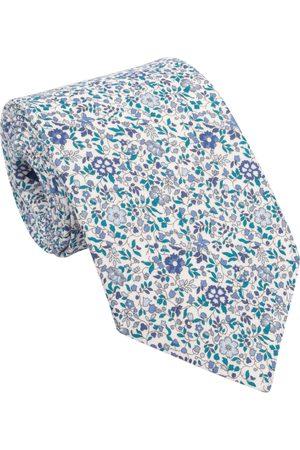 Men Neckties - Men's Artisanal Blue Cotton Liberty Katie & Millie Tie LE COLONEL