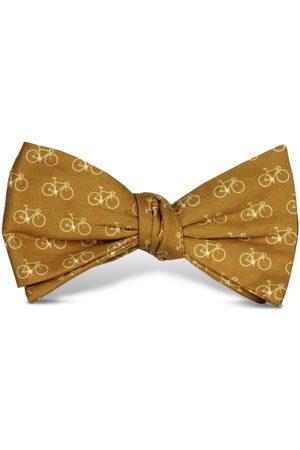 Men's Artisanal Yellow/Orange Cotton Vélo Bow Tie Tom Astin