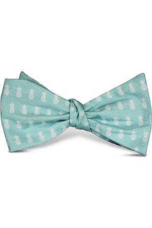 Men's Artisanal Green Cotton Fineapple Bow Tie Tom Astin
