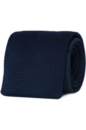 Men's Artisanal Blue Marine Machine Necktie Tom Astin