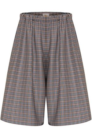 Women Culottes - Women's Artisanal Blue Wool Loni Culottes Large Bo Carter