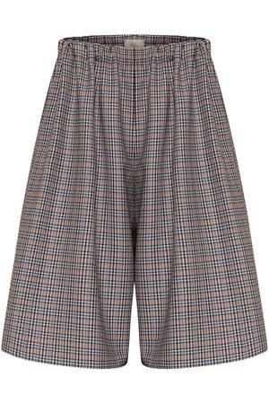 Women Culottes - Women's Artisanal Blue Wool Loni Culottes XL Bo Carter