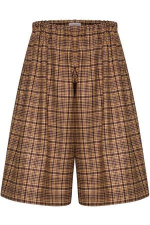 Women Culottes - Women's Artisanal Brown Wool Loni Culottes Medium Bo Carter