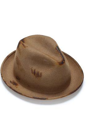 Artisanal Wool Felt Fedora For Men 55cm Justine Hats