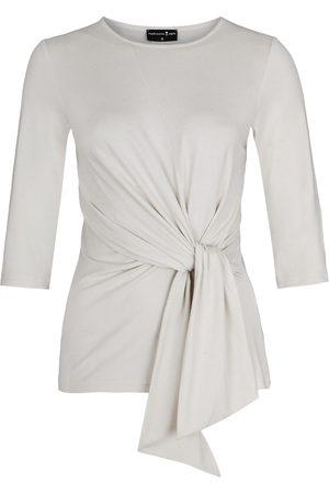 Women Wrap tops - Women's Non-Toxic Dyes White Luna Wrap Top Creme XS Marianna Déri