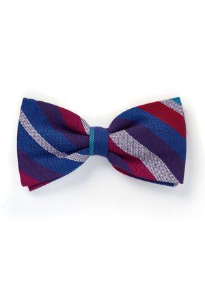 Men's Low-Impact Purple Cotton Striped Bow Tie - Kamba KOY Clothing
