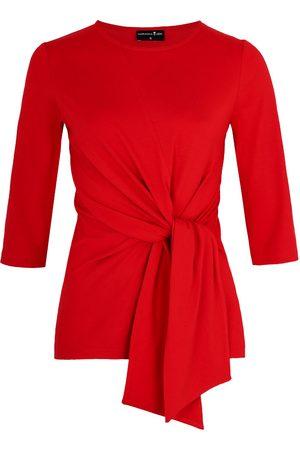 Women Wrap tops - Women's Non-Toxic Dyes Red Luna Wrap Top XS Marianna Déri