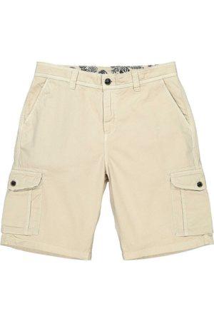 Men Cargo Pants - Men's Recycled Natural Cotton Crab Cargo Shorts Beige 34in Panareha
