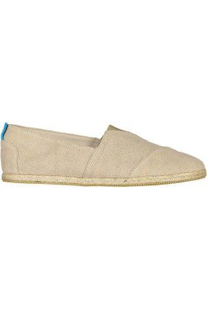 Men's Recycled Natural Cotton Whelk Espadrilles Beige Shoes 7 UK Panareha