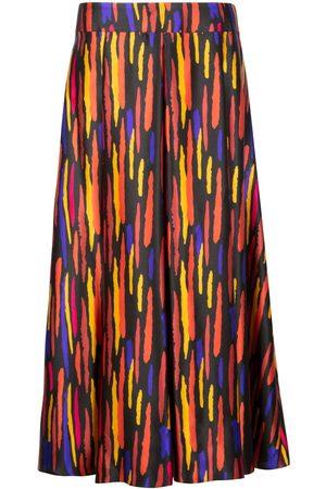 Women's Artisanal Black Silk Gracie Satin Skirt Small Isabel Manns
