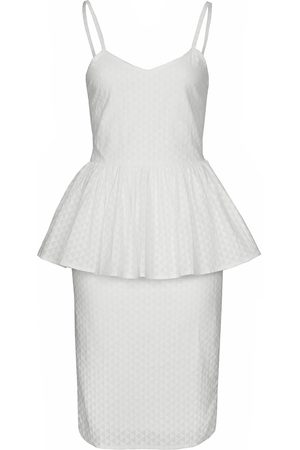 Women's Natural Fibres White Cotton The Samaah Dress In XXS IMAIMA