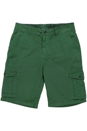 Men's Recycled Green Cotton Crab Cargo Shorts 30in Panareha