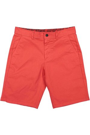 Men's Recycled Red Cotton Turtle Bermuda Shorts 36in Panareha