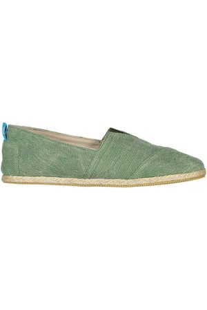 Men's Recycled Green Cotton Whelk Espadrilles Shoes 12 UK Panareha