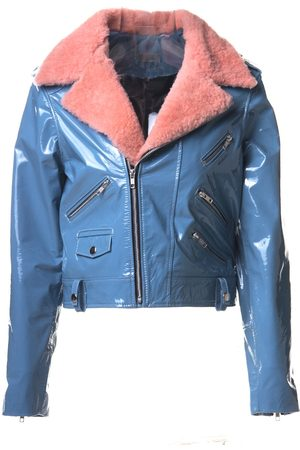 Women Leather Jackets - Women's Rose Wool Prim Medium ALEXIA ULIBARRI