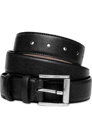 Vegan Black Leather Mens Belt In Medium Watson & Wolfe