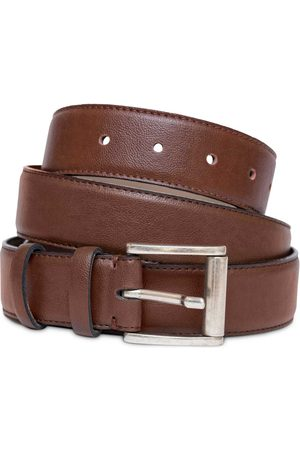 Vegan Brown Leather Mens Belt Medium Watson & Wolfe