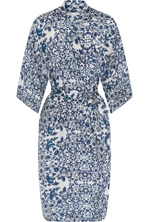 Women's Blue Silk Delilah Kimono Small Genevie