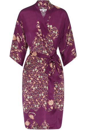 Women Kimonos - Women's Purple Silk Reina Kimono Small Genevie