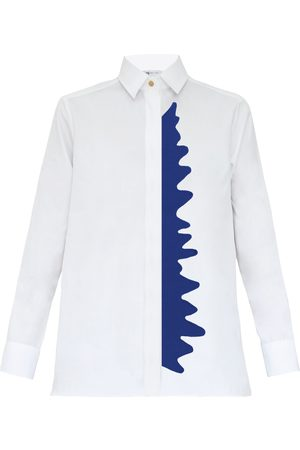 Women Flares - Women's Blue Cotton Shirt XL My Pair of Jeans