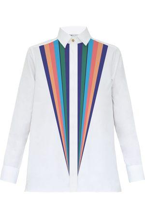 Women Flares - Women's White Cotton Prisma Shirt XL My Pair of Jeans