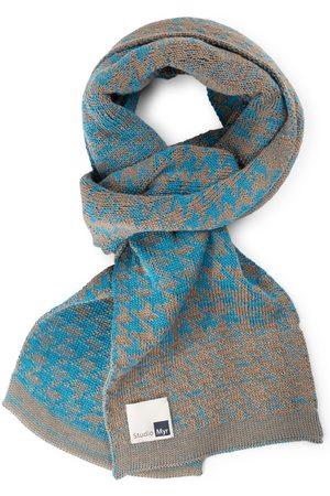 Men Scarves - Men's Artisanal Teal Cotton Elements Luxurious Scarf STUDIO MYR