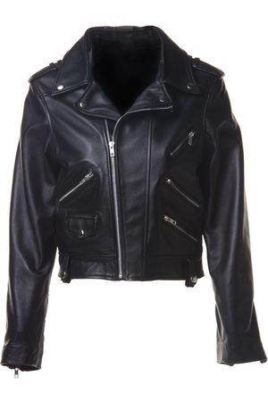 Women Leather Jackets - Women's Black Leather Sylvia Medium ALEXIA ULIBARRI
