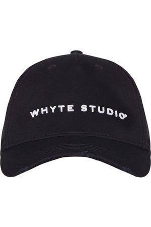 Men's Black Cotton The Highway Baseball Cap Whyte Studio