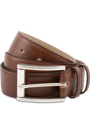 Men's Vegan Brown Leather Handmade Belt In Medium Watson & Wolfe