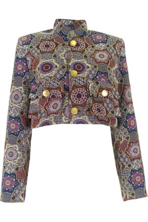 Jackets - Women's Artisanal Cotton colour Cropped Jacket With Pockets Medium relax baby be cool