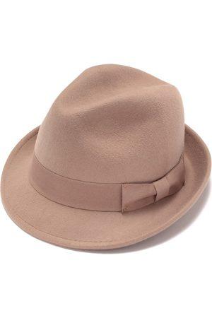 Men Hats - Artisanal Brown Cotton Mens Fedora Hat 57cm Justine Hats
