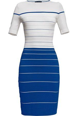 Women Bodycon Dresses - Women's Low-Impact Blue Regatta Striped Bodycon Dress Large Rumour London