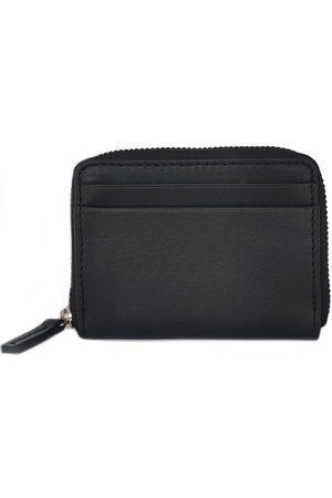 Men Wallets - Men's Black Cotton Billfold Wallet Nappa Dori