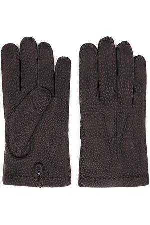 Men's Carbon Neutral Brown Cashmere Lined Carpincho Leather Gloves - Gianni 7.5in Dalgado