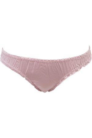 Women Thongs - Women's Artisanal Pink Cotton Thong Small Chitè