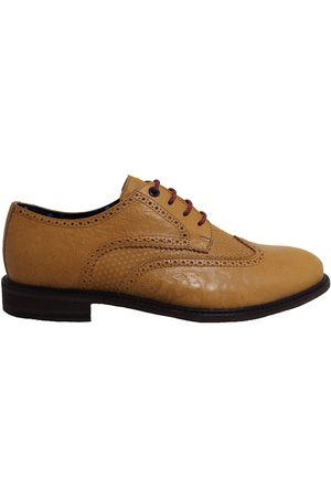 Men's Brown Leather Follie Brogue Shoes 9 UK Lords of Harlech