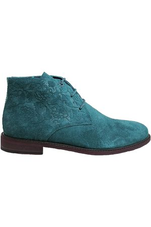 Men's Teal Leather Woodchuck Chukka Boot In Shoes 10 UK Lords of Harlech
