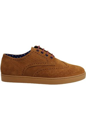 Men's Brown Peacock Brogue Sneaker Shoes 6 UK Lords of Harlech